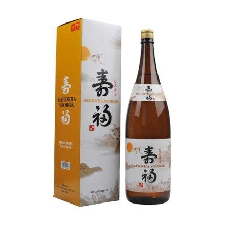 (清仓)14°韩国白花寿福清酒1800ml