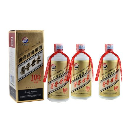 53°茅台镇酱香世家10年陈酿500ml 3瓶装