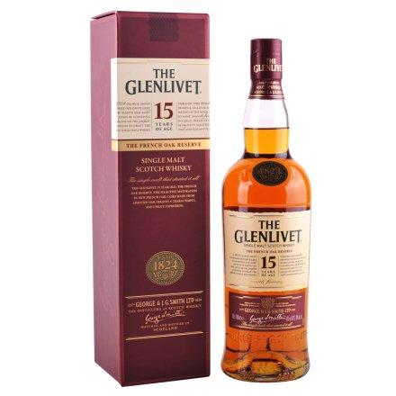 40°英国格兰威特单一麦芽苏格兰威士忌15年法国橡木桶陈酿700ml