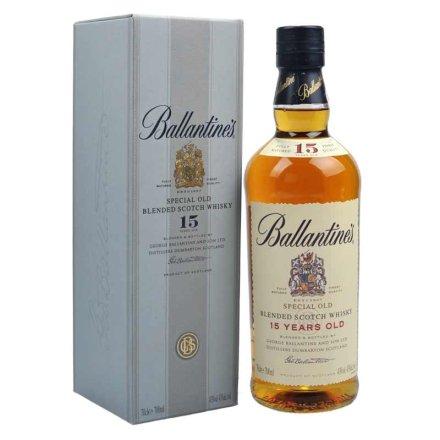 43°英国百龄坛15年苏格兰威士忌700ml
