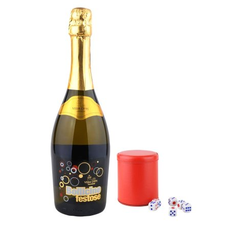 意大利缤纷年华起泡葡萄酒+高档皮质筛盅(红色)