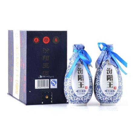 45°汾阳王兰花十五年礼盒(双盒装)