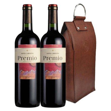 智利圣卡罗尊荣红葡萄酒双支皮袋装