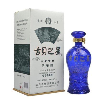 (清仓)38°古贝之星四星500ml