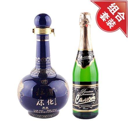52°杜康经典国花高贵500ml+俄罗斯香槟