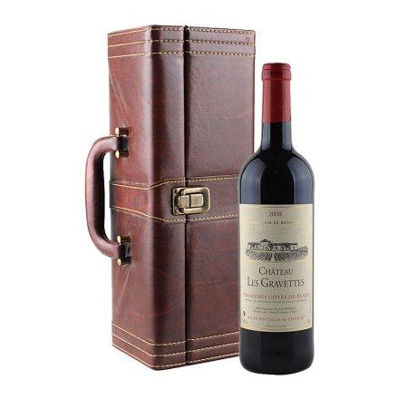 法国格拉芙特城堡红葡萄酒礼盒