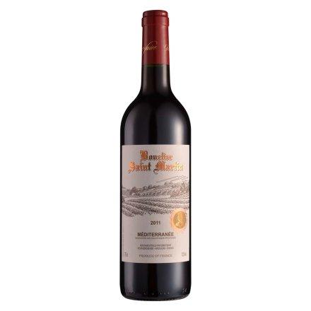 【清仓】法国罗纳河谷圣马丁骑士庄园干红葡萄酒750ml