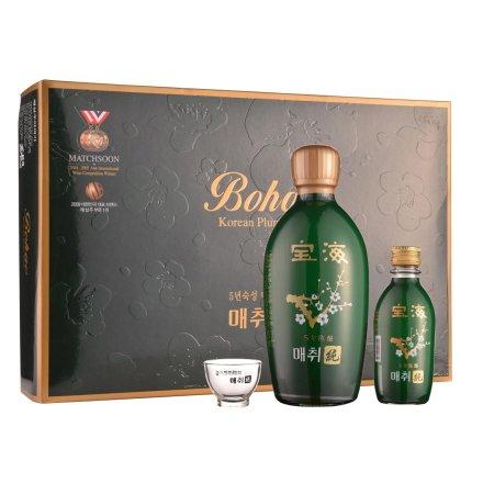 14°韩国宝海梅翠纯青梅酒5年陈酿礼盒装375ml*3