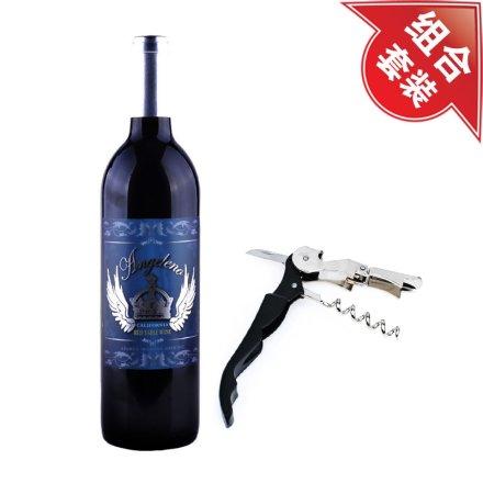 美国安吉利诺加州干红葡萄酒+黑色酒刀