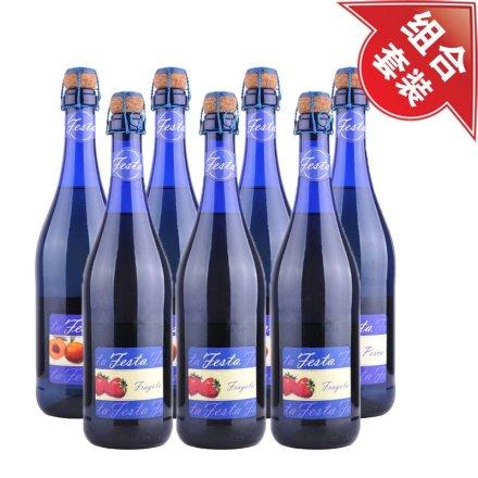 蓝冰低醇起泡葡萄酒(鲜桃味)4瓶+蓝冰低醇起泡葡萄酒(草莓味)3瓶