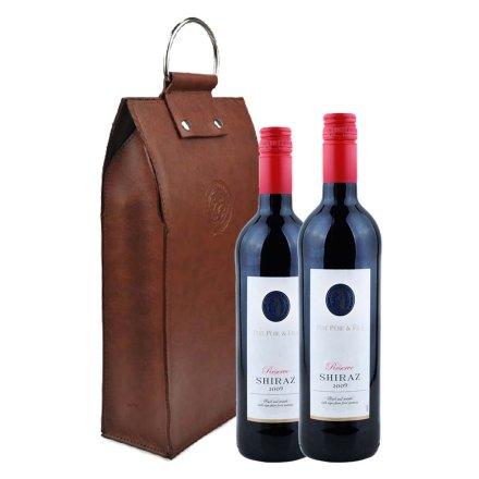 法国帕朵父与子珍藏西拉2009红葡萄酒双支皮袋装