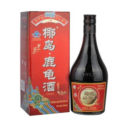 (清仓)33°二星椰岛鹿龟酒盒装500ml