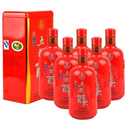 50°五粮醇红淡雅500ml(6瓶装)