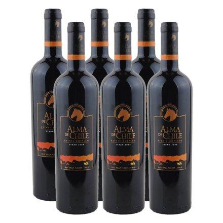 智利艾玛庄园西拉干红葡萄酒(6瓶装)