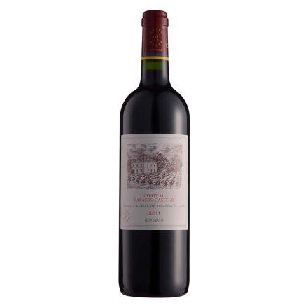 法国拉菲卡瑟天堂古堡波尔多法定产区红葡萄酒750ml