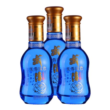 46°武陵芙蓉国色小酒100ml(3瓶装)