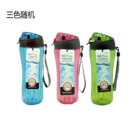 乐扣乐扣 塑料水杯HLC628  550ml(颜色随机)