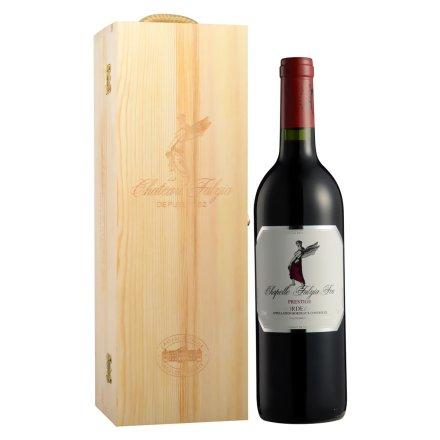 法国法莱雅F06波尔多AOC级干红葡萄酒木礼盒750ml