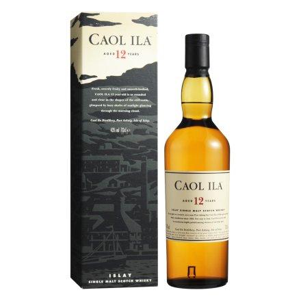 43°卡尔里拉12年单一麦芽苏格兰威士忌700ml
