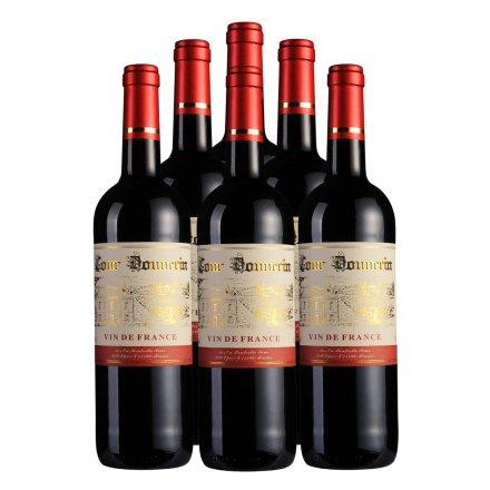法国勃朗宁古堡干红葡萄酒750ml 6瓶套装