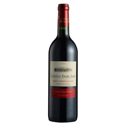 【清仓】法国杜隆波尔多产区圣母简古堡干红葡萄酒2009 750ml
