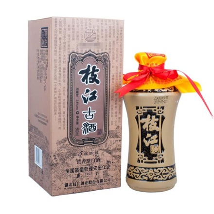 (清仓)38°枝江古酒五年陈酿500ml