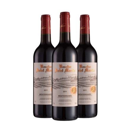 法国圣马丁骑士庄园干红葡萄酒750ml(3瓶装)