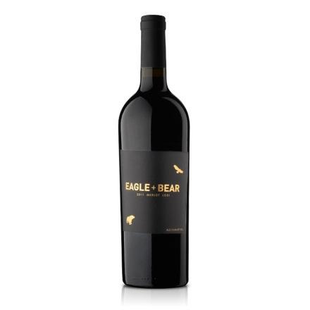 美国加州劳代鹰熊梅乐干红葡萄酒750ml