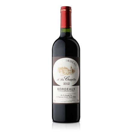 法国百小教堂波尔多红葡萄酒750ml