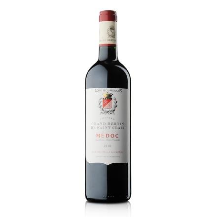 法国梅多克中级庄柏廷庄园干红葡萄酒750ml