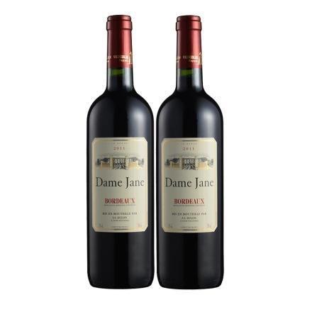法国杜隆波尔多产区圣母简古堡干红葡萄酒2011 750ml(双瓶装)
