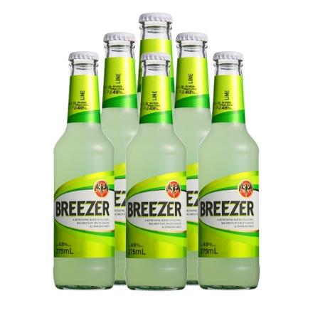 4.8°百加得冰锐朗姆预调酒青柠味275ml(6瓶装)