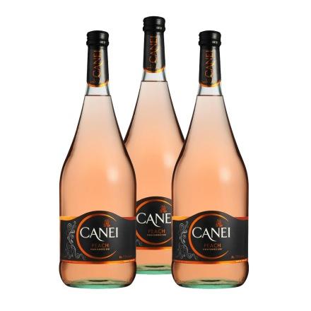 意大利圣霞多肯爱Canei桃红半甜微起泡葡萄酒1500ml(3瓶装)