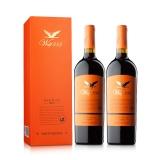 12.5°禾富888西拉2013干红葡萄酒黄标礼盒750ml(双瓶套装)