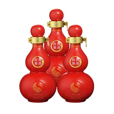 42°长寿长乐中国红125ml(3瓶装)