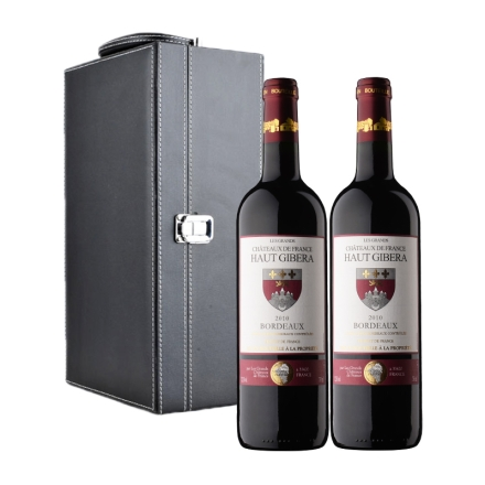 法国迪赛酒庄红葡萄酒双支黑色礼盒装