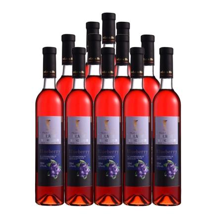 10°桓龙湖宝石红蓝莓酒500ml(12瓶装)