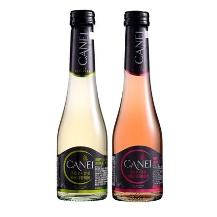 意大利圣霞多肯爱玫瑰红低泡白200ml(双瓶装)
