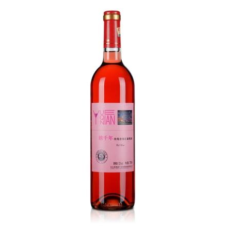 中国越千年玫瑰香桃红葡萄酒750ml