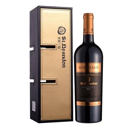 法国圣堡兰帝波尔多葡萄酒单只多功能礼盒装