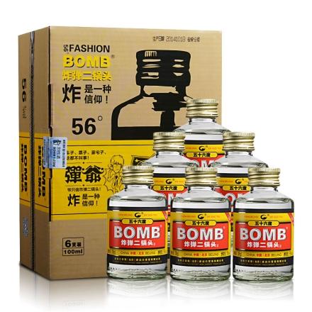【清仓】56°炸弹二锅头(弹爷六瓶套装)