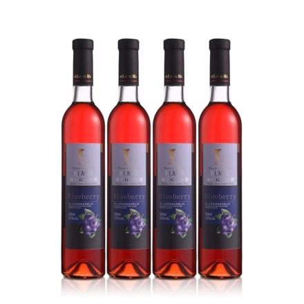 10°桓龙湖宝石红蓝莓酒500ml(4瓶装)