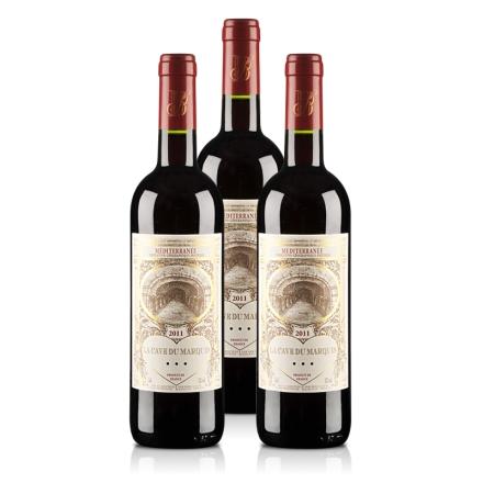 法国男爵窖藏精品2011干红葡萄酒(3瓶装)