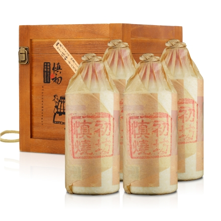 51°慎初窖藏移动酒窖(高端木礼盒500ml*4)