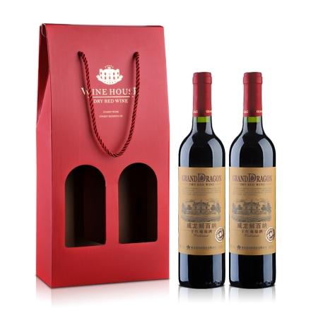 威龙 优选解百纳干红葡萄酒 礼盒750ml*2