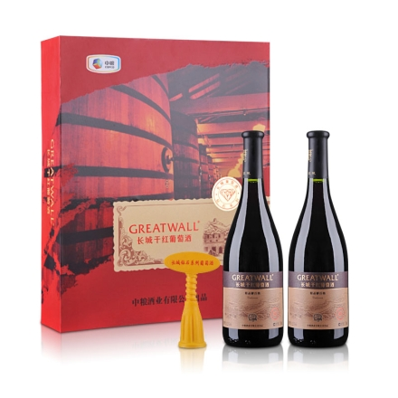 中国长城干红葡萄酒精品解百纳(钻石系列)双支礼盒750ml*2