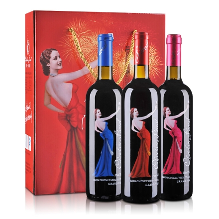 【清仓】法莱雅天使▪橡木桶窖藏红葡萄酒750ml*3礼盒