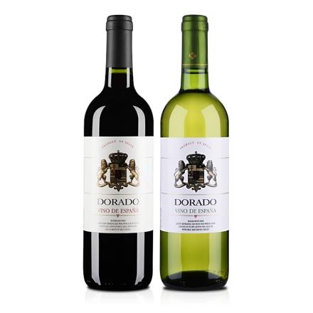 11°西班牙皇家金狮干红干白葡萄酒双瓶套装