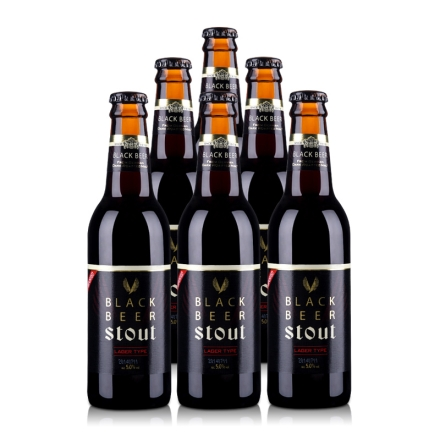 韩国5°海特黑啤酒Black Beer330ml(6瓶装)