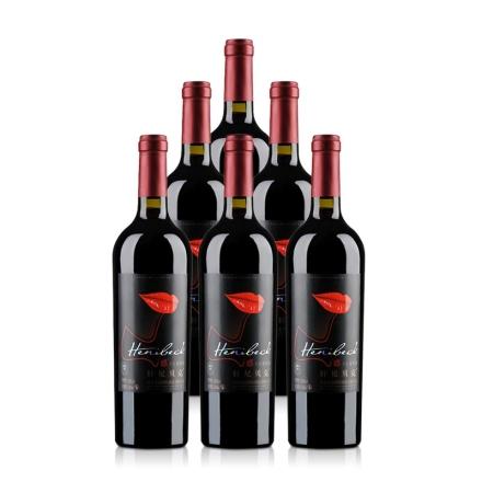 轩尼贝克红唇干红葡萄酒750ml(6瓶装)
